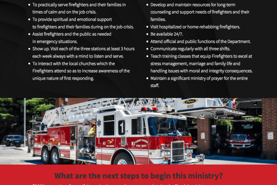 Fuquay Fire Chaplain Ministry Website Design